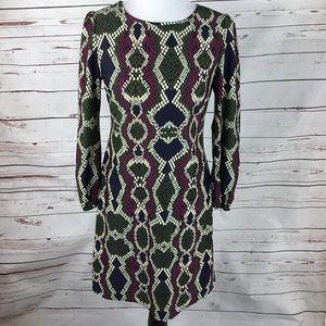 Jude Connally Print Snake Print Dress. Size Small